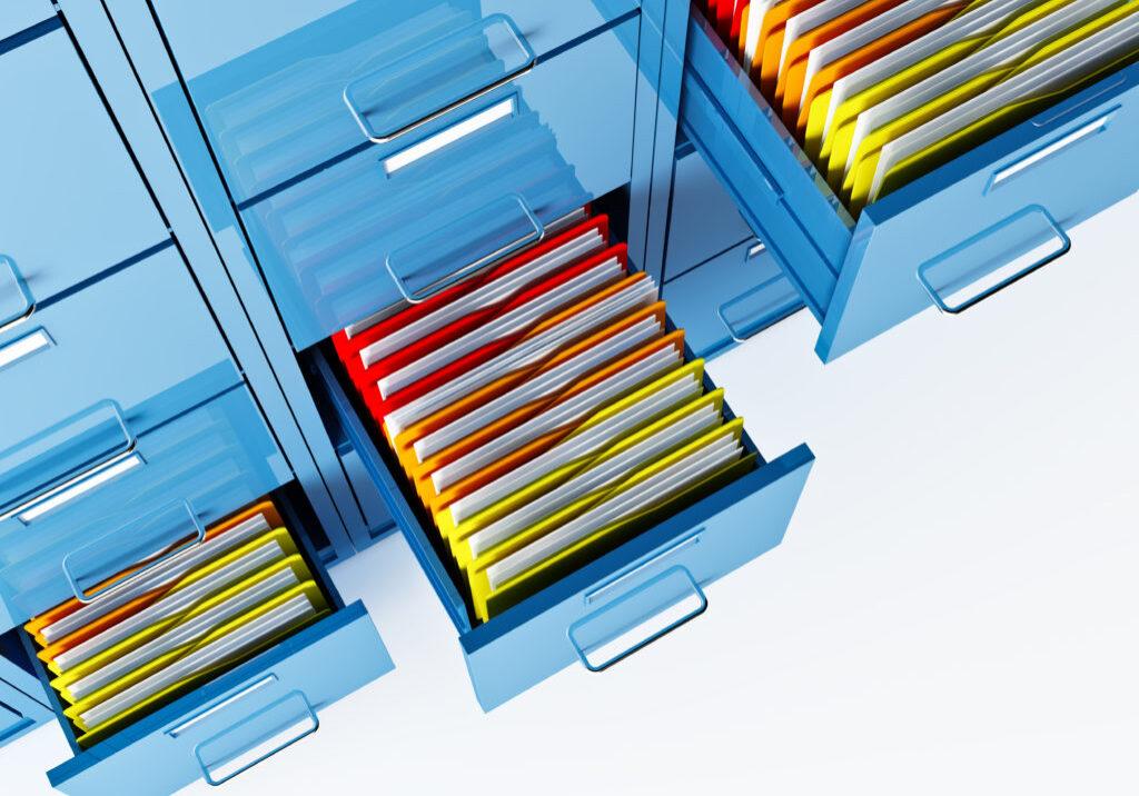 fine 3d image of file cabinet folder