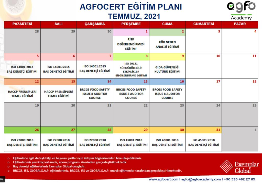 Temmuz Eğitim Planı