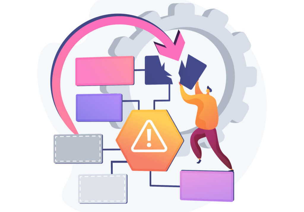 Business continuity and disaster recovery abstract concept vector illustration. Economic disaster recovery, business continuity planning, risk management, anti-crisis strategy abstract metaphor.